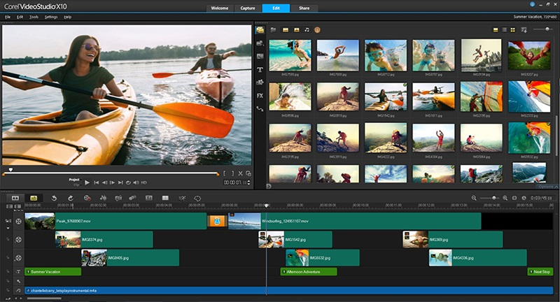 Corel Video Studio Ultimate video editing