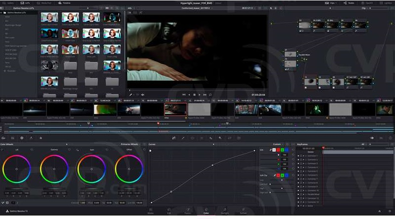 DaVinci Resolve video editing