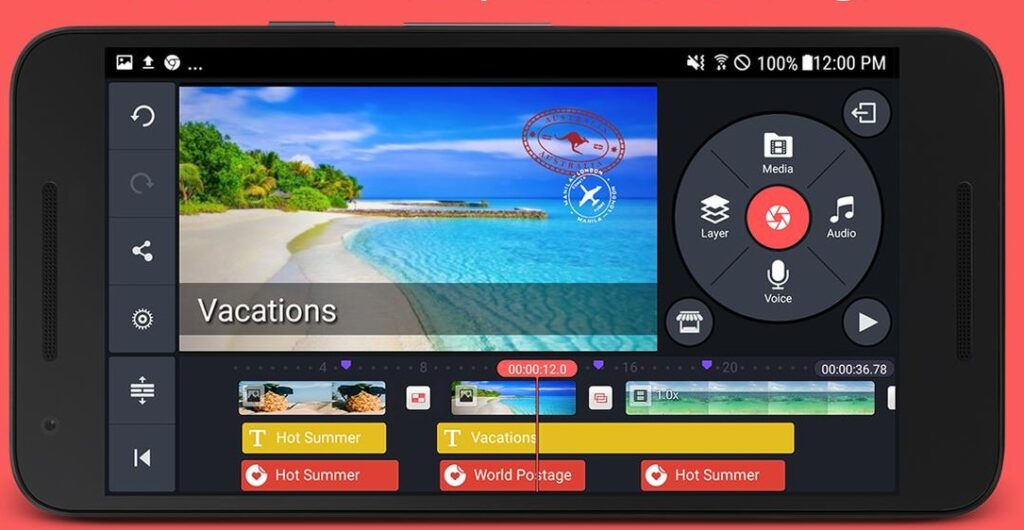 Kine Master for Android video editing