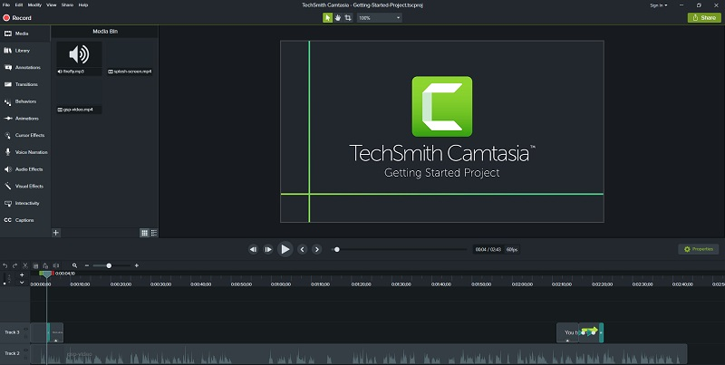 video editing software Camtasia