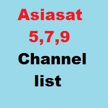 Asiasat 7&9 channel list