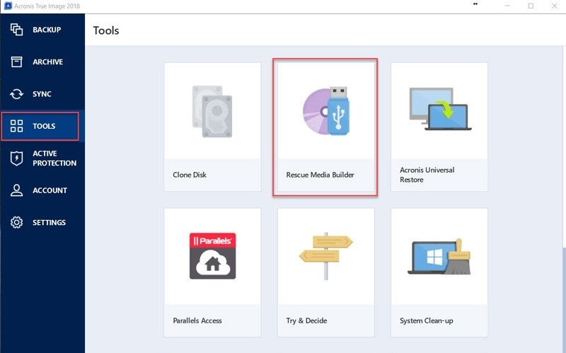 Download the latest version of Acronis True Image 2018