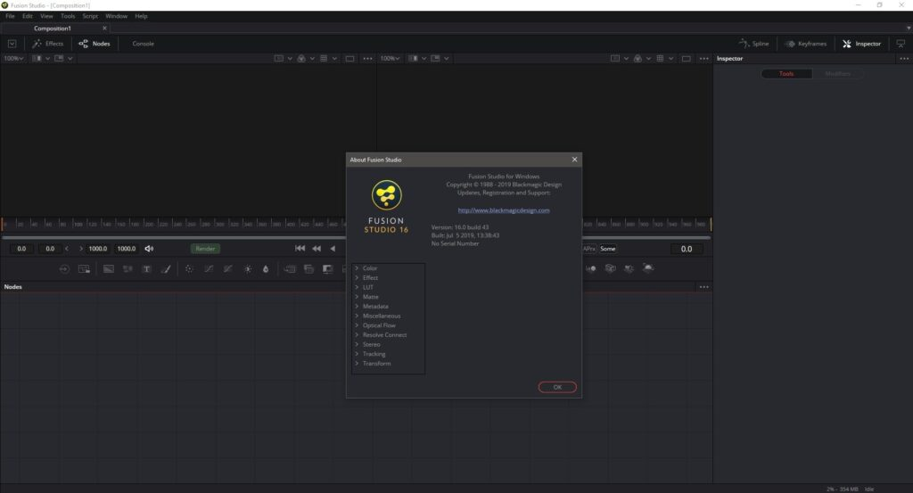 Blackmagic Fusion Studio 16.0