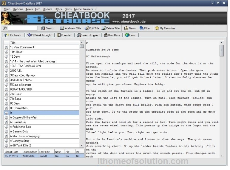 Download video game CheatBook 2017 for free