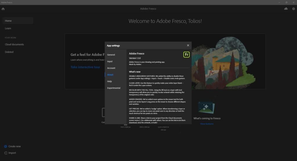 Offline installer Download Adobe Fresco 1.3