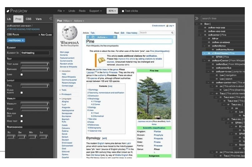 Pinegrow Web Editor Pro 5.9 One-Click Download
